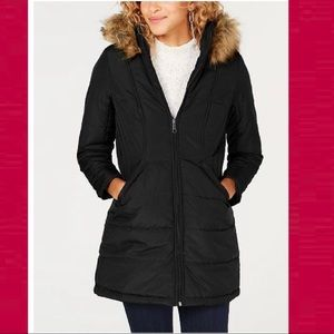 Chic faux fur puffer coat from Maralyn & Me.